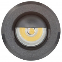 Armacost Lighting Mini Warm White Integrated LED Recessed Puck Light with 1.5 in. Black Polycarbonate Trim Ring