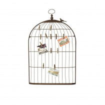 3R Studios 35 in. H Bronze Bird Cage Card Holder