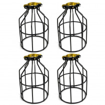 Adamax Metal Lamp Guard for String Light and Lampholder (4-Pack)