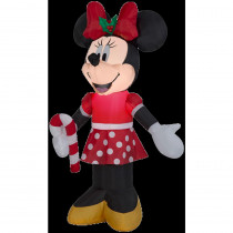 Airblown 3 ft. W x 3.5 ft. H Inflatable Disney Minnie Holding Candy Cane