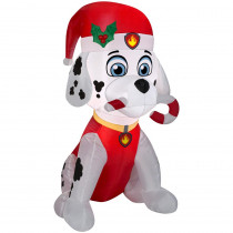 Airblown Holiday 3 ft. H x 1.64 ft. W Inflatable Marshall the Fire Pup with Candy Cane