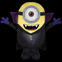 Airblown 3 ft. W x 3 ft. H Inflatable Gone Batty Minion