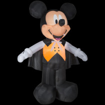 Airblown 8 ft. W x 10 ft. H Inflatable Disney Mickey Vampire in Orange Vest