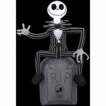 Airblown 2 ft. W x 4 ft. H Inflatable Disney Jack Skellington on Tombstone