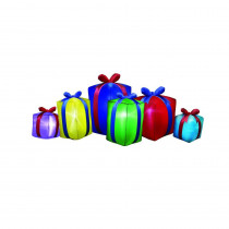 Airflowz 8 ft. Inflatable Row of Presents Non Metallic