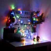 Aleko 34 ft. 100-Light LED Multi-Color Flush Light Electric Powered Extendable Christmas Holiday Light (Lot of 2)