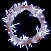 Aleko 34 ft. 100-Light LED White Electric Powered String Lights (Lot of 2)