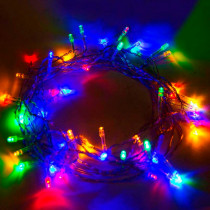 Aleko 50 Multi -Color LED Battery Operated String Lights (Lot of 5)