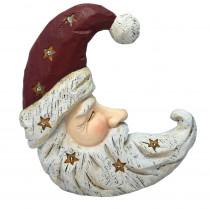 Alpine Christmas Santa Moon Face Light Up Statue Decor- TM