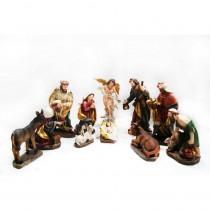 Alpine 13 in. H Nativity Set (11-Piece)