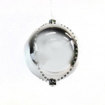 Alpine 7 in. Silver Xmas Ball Ornament with 76 Chasing LED Lights