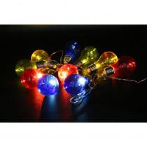 Alpine 10-Light Multi-Color LED Light Bulbs with Edison Bulb String Lights (Set of 10)