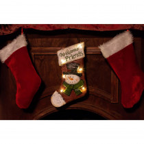 Alpine Christmas Stocking Light-up Hanging Wall Decor- TM