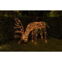 Alpine 25 in.  Grazing Rattan Reindeer with 50-Halogen Lights (Plug-In)