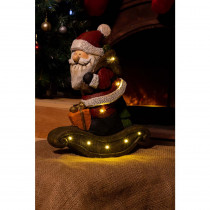 Alpine Christmas Santa Light Up Statue Decor- TM