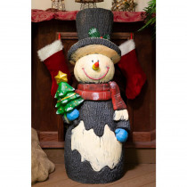 Alpine 47 in. H Snowman Statuary Decor