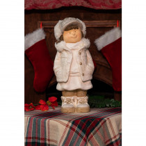 Alpine Christmas Girl with Hands in Her Pocket Statue