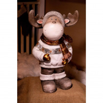 Alpine 32 in. Christmas Reindeer Statuary