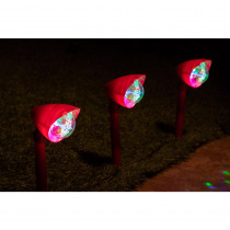 Alpine Kaleidoscope Christmas Garden Pathway LED Lights - Set of 3