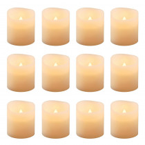 Lumabase 1.5 in. Amber Votive LED Candle (Set of 12)