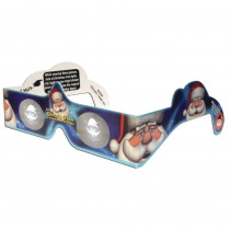 American Paper Optics Magical 3-D Christmas Santa Paper Glasses (20-Piece)