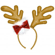 Amscan 10.5 in. x 11 in. Antlers Christmas Headband (2-Pack)