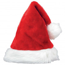 Amscan 15 in. x 11 in. Santa Christmas Plush Hat (3-Pack)