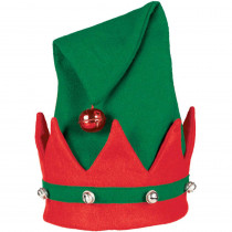 Amscan 15 in. x 11 in. Elf Christmas Hat with Bells (3-Pack)