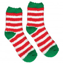 Amscan 13.5 in. Striped Christmas Fuzzy Socks (2-Count, 4-Pack)