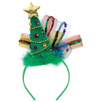 Amscan 11 in. x 7.875 in. Christmas Tree Fashion Headband (2-Pack)