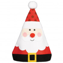 Amscan 15 in. x 12 in. Whimsical Santa Christmas Hat (3-Pack)