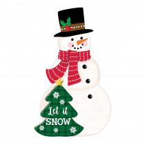 Amscan 22.5 in. Christmas Snowman MDF Easel Sign