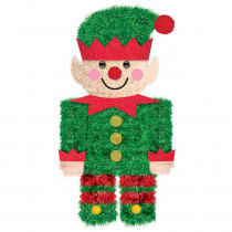 Amscan 6.5 in. Christmas Elf Tinsel 3D Decoration (5-Pack)