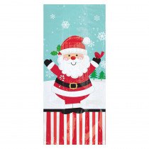 Amscan 9.5 in x 4 in. x 2 in. Christmas Jolly Santa Cello Small Party Bag (20-Count 7-Pack)