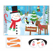 Amscan Pin the Nose on the Snowman Christmas Party Game (10-Count 2-Pack)