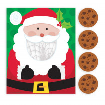 Amscan Santa Cookie Toss Christmas Game (5-Count 2-Pack)