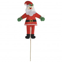 Amscan Friendly Santa 46 in. Christmas Yard Sign (2-Pack)