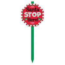 Amscan Santa Stop Here 28.5 in. Christmas Yard Sign (3-Pack)