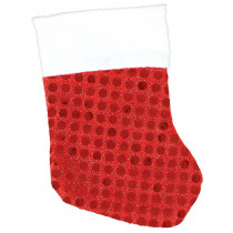 Amscan 5.5 in. x 3.5 in. Sequin Red Christmas Stockings (6-Count, 4-Pack)