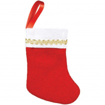 Amscan 3 in. x 2 in. Felt Christmas Stockings (10-Count, 3-Pack)