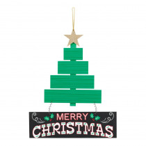 Amscan 13.5 in. x 11.5 in. Christmas Tree MDF Sign (2-Pack)
