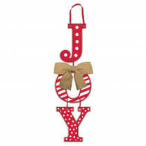 Amscan 17.5 in. x 5.5 in. Christmas Joy MDF Stacked Sign (3-Pack)