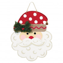 Amscan 13 in. x 11 in. Christmas Polka Dot Santa MDF Sign (2-Pack)