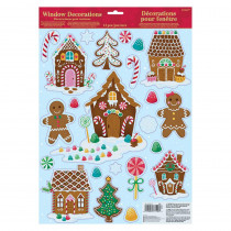 Amscan Christmas Gingerbread House Window Clings (6-Pack)