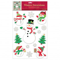 Amscan Christmas Snowman Embossed Foil Window Clings (3-Pack)