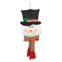 Amscan 26 in. x 11 in. Christmas Snowman Plush Door Hanger