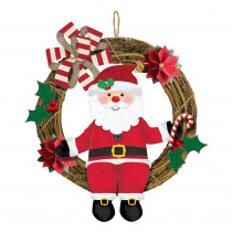 Amscan 18 in. x 13.5 in. Christmas Santa Grapevine Wreath (2-Pack)