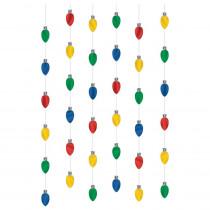 Amscan 7 ft. Christmas Lights Foil String Decoration (6-Count, 3-Pack)