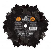 Amscan 5 ft. Halloween Black Leaf Garland (3-Pack)