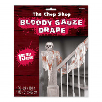 Amscan 15 ft. x 2 ft. Halloween Bloody Drape (2-Pack)